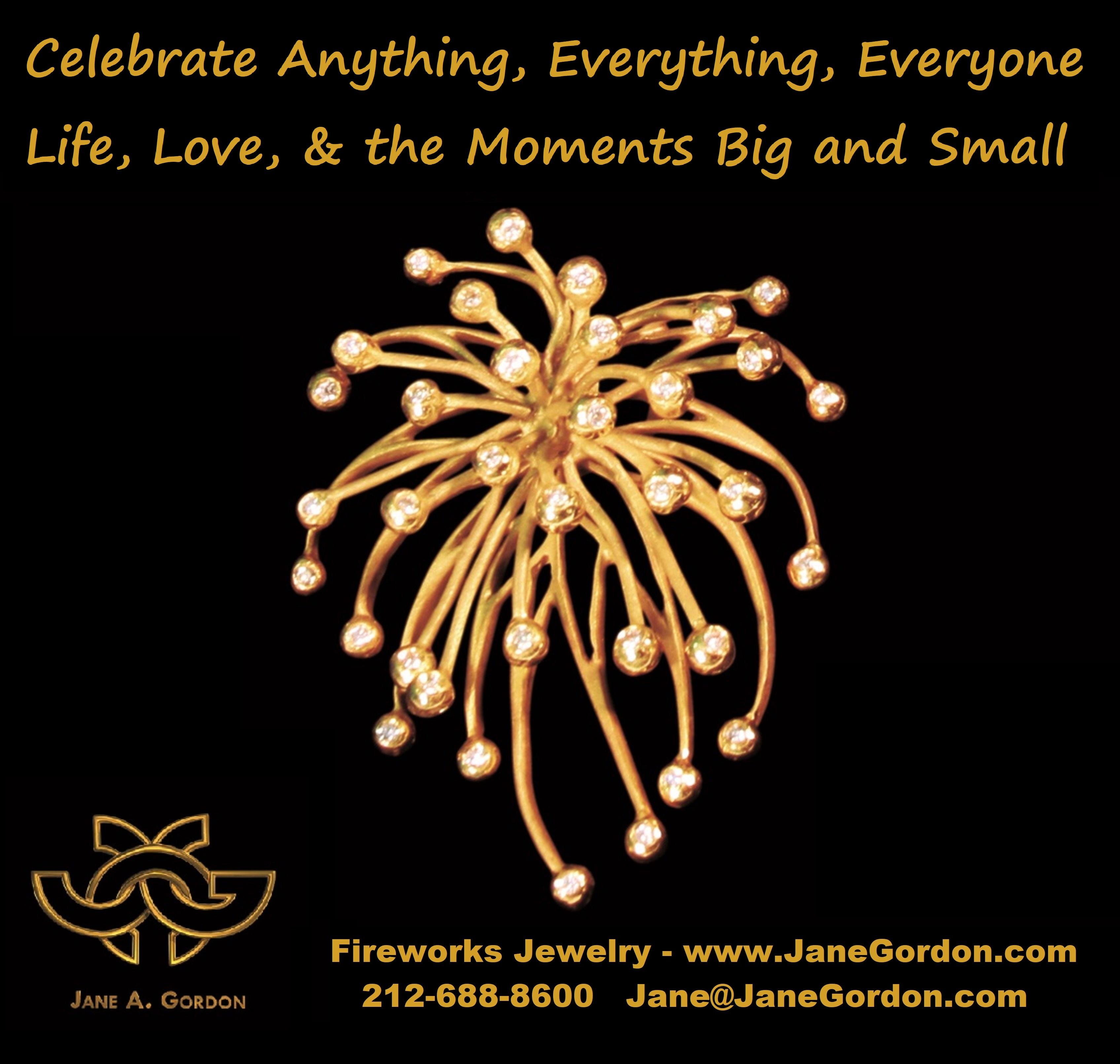 Fireworks Pendant Earrings -Silver Gold Diamond-Jane Gordon Jewelry