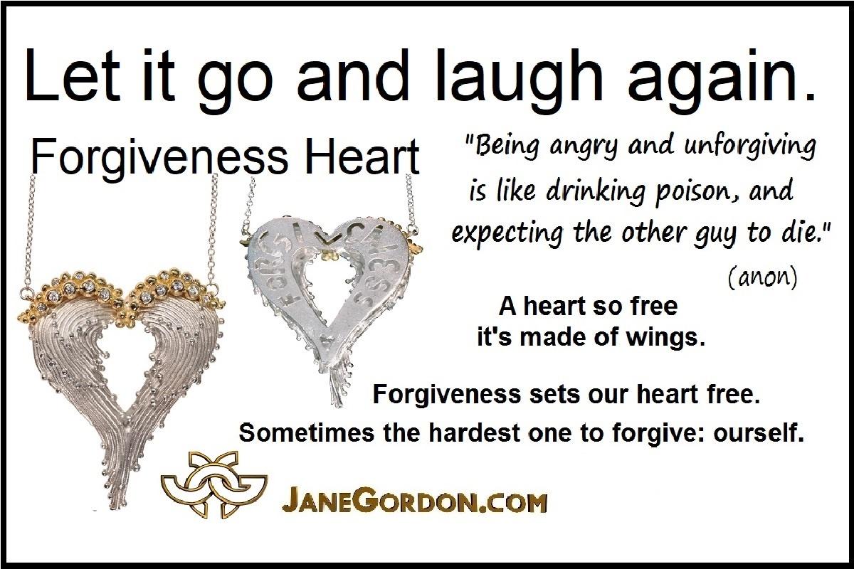 Forgiveness Heart Wing Pendant-Jane Gordon Jewelry