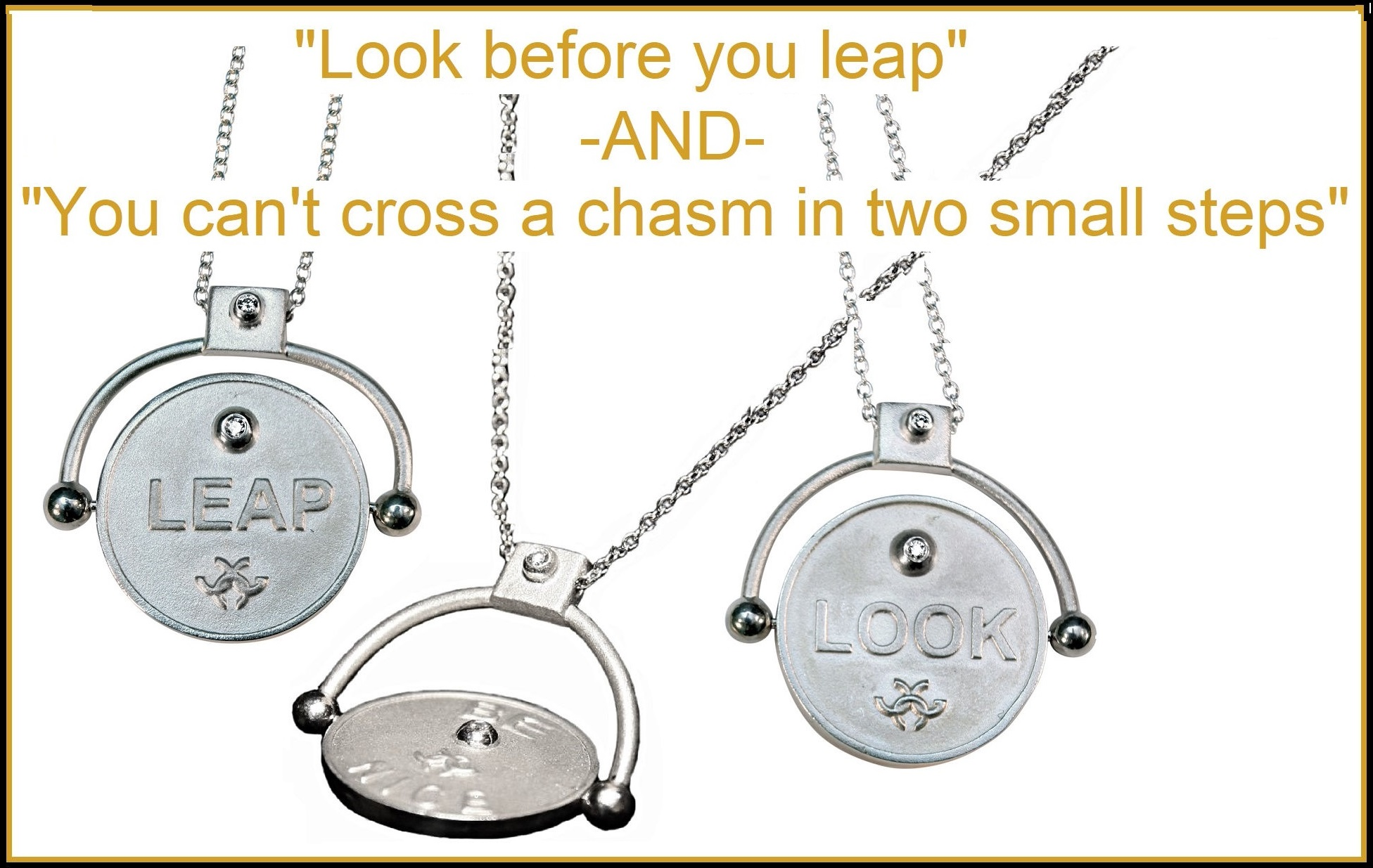 Decision Coin Necklace: Look or Leap?