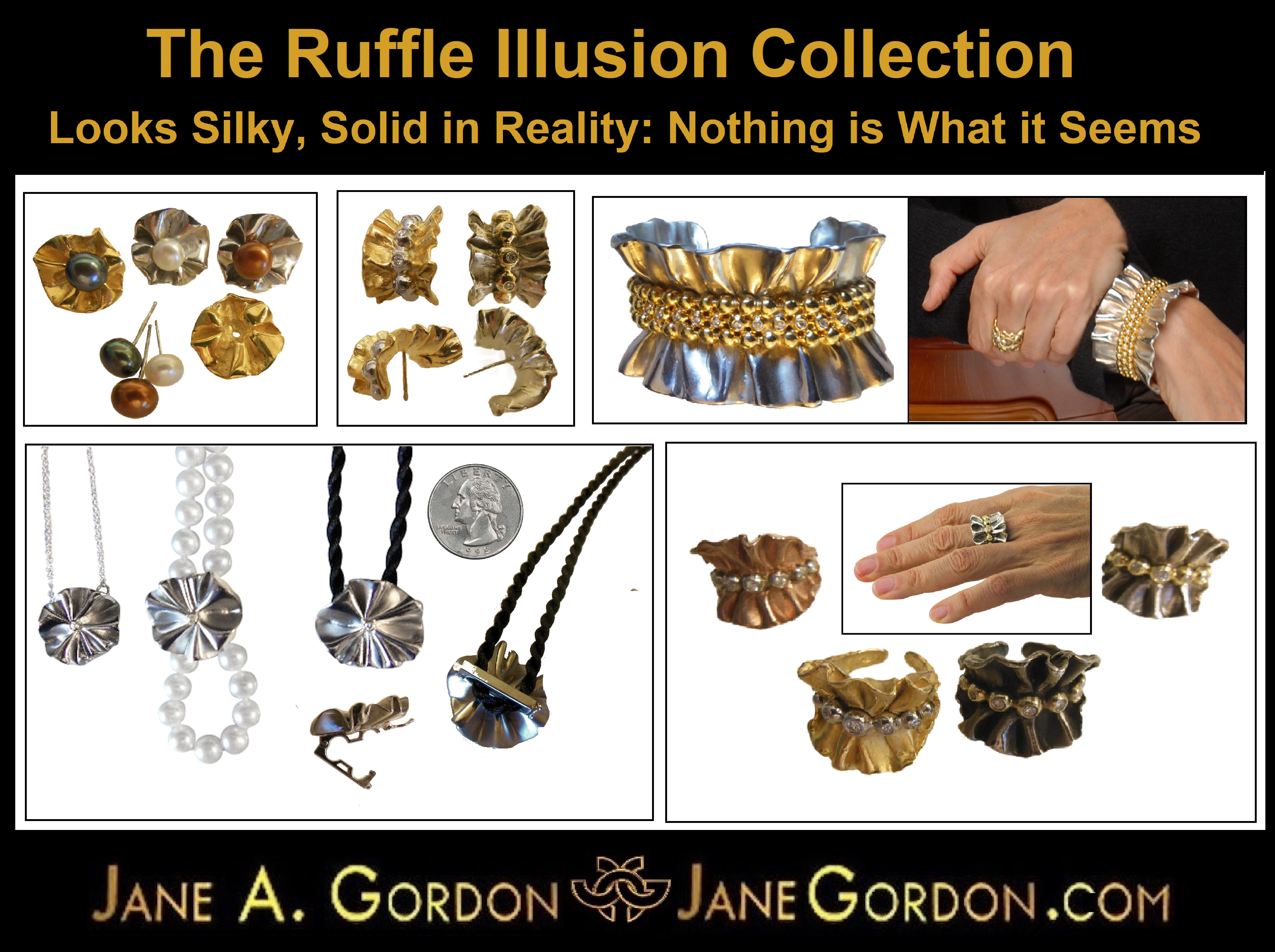 Ruffle Collection - Life is Illusion. When heart and mind is open, truth and light can enter. Jane Gordon Jewelry