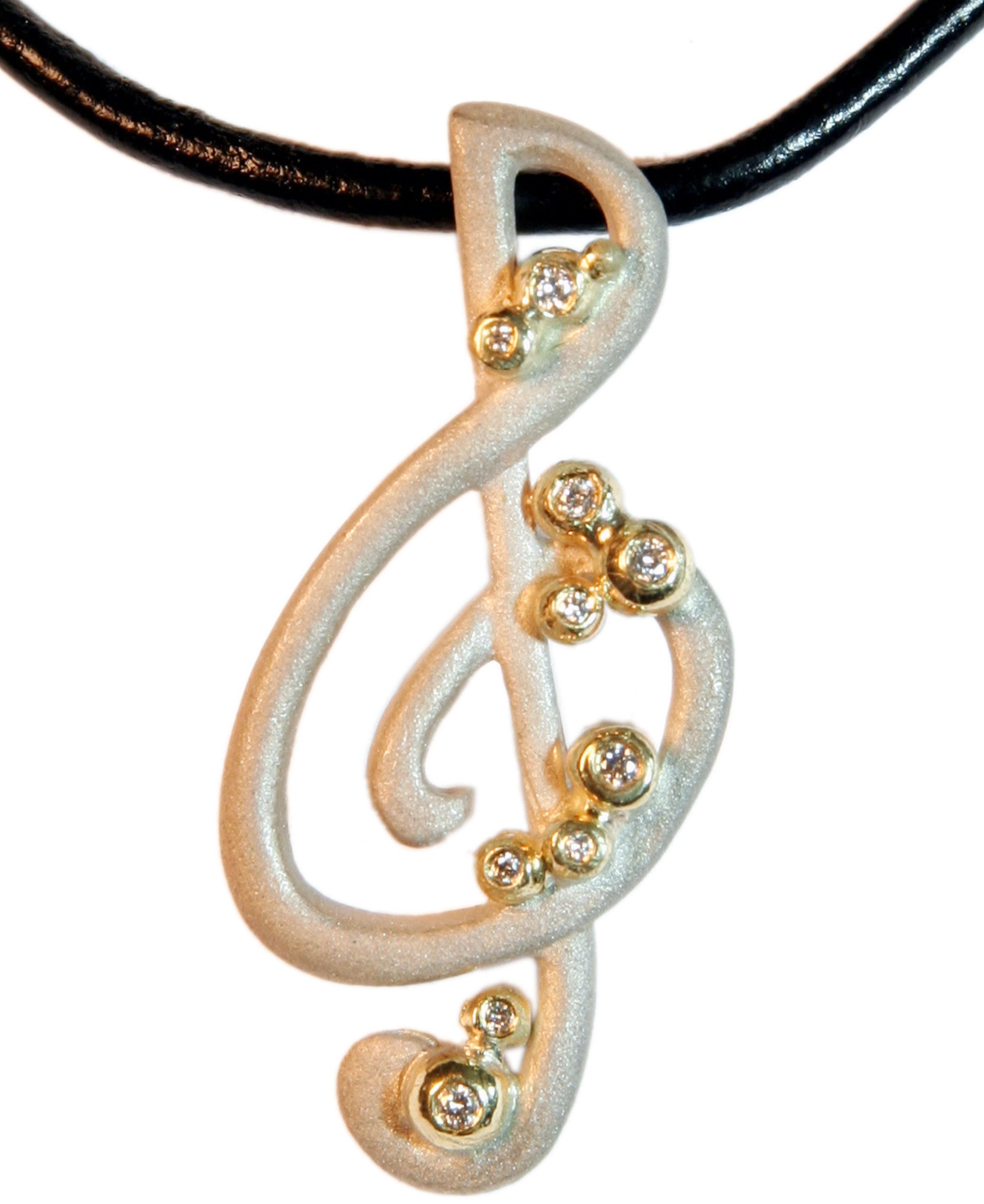 Treble Clef Pendant: Jane Gordon Jewelry